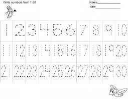tracing numbers 1 through 10 lines and d otted numbers to