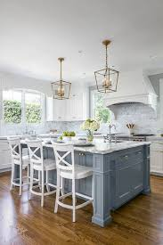 blue kitchen islands 30 gorgeous blue kitchen decor ideas digsdigs
