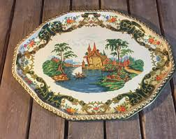 themed serving tray trays etsy