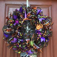 deco mesh halloween wreath ideas