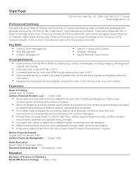 Sample Resume For Custodial Worker by Stock Resume Sample Resume Cv Cover Letter Sales And Trading