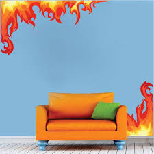 bedroom flame wall mural decal boys room corner flame wall decal bedroom flame wall mural decal boys room corner flame wall decal flame decals removable flame stickers for kids bedrooms primedecals