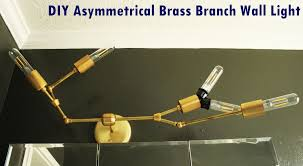 Brass Light Gallery by Diy Modern Asymmetrical Brass Branch Light