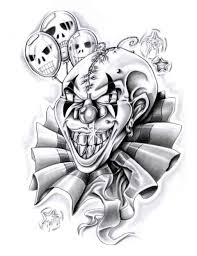 clown tattoo designs black white jpg car tuning tattoos