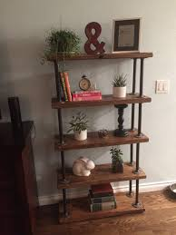 Reclaimed Wood And Metal Bookcase Industrial Pipe Shelf Handmade Reclaimed Wood Bookcase Shelves