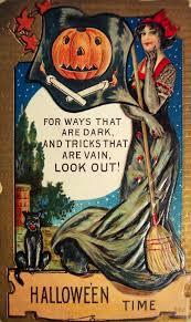 vintage halloween postcard witches 1900s vintage halloween