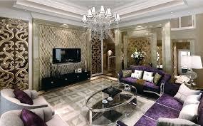 interior design purple sofa living room european style interior