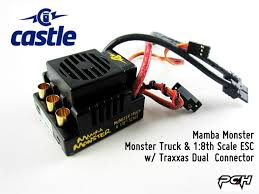 traxxas monster jam trucks castle creations mamba monster monster truck 1 8th scale 6s esc