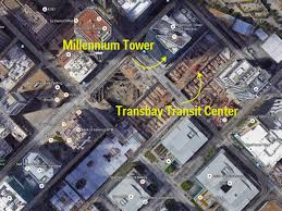 America Map San Francisco by San Francisco U0027s Millennium Tower Probably Won U0027t Fall Due To