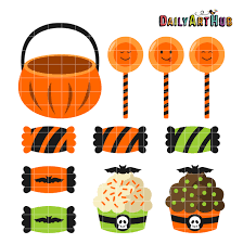 free halloween sweets clip art set daily free art sets