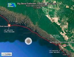 Big Bend Map Florida Saltwater Circumnavigation Paddling Trail