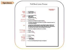 block letter format spacing format