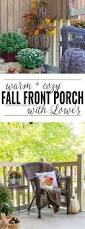 Cozy Front Porch Chairs On Cozy Fall Front Porch Domestically Creative