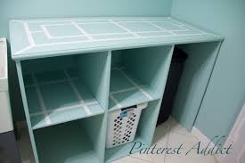 folding table with storage light blue wooden folding table with storage shelves using plaid