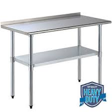 stainless steel work table with shelves 24 x 48 stainless steel work table with backsplash for kitchen