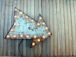 arrow of light decorations industial rusty arrow marquee wall decor sign distressed