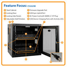 amazon com tripp lite 32 port usb charging station cabinet for
