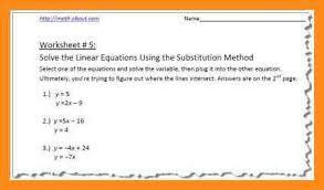 8 substitution method worksheet lvn resume