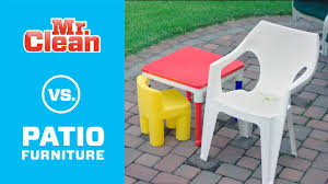 how to clean patio furniture mr clean youtube