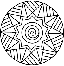 coloring pages fabulous mandala kids simple mandalas