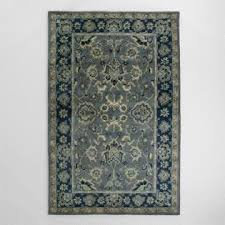 Gray And Blue Area Rug Gray And Blue Tonal Print Woven Wool Aliyah Area Rug World Market
