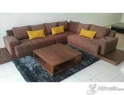 canapé d angle bois canapés d angle 300 350cm avec socle en bois massif etc dakar