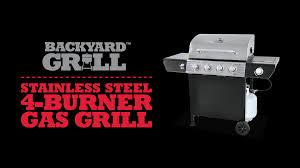Backyard Gas Grill by Backyard Grill 4 Burner Gas Grill Walmart Com