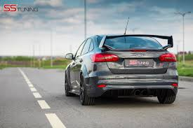 ford focus st aftermarket ford focus st sedan by ss tuning has an sti wing autoevolution