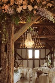 Rivervale Barn Wedding Prices Crystal Wedding Chandelier With A Fairy Light Canopy At The