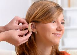 hairstyle that covers hearing aid wearer hearing aids adult pediatric ent allergy hearing aids