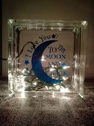 i you to the moon and back light nursery decor glass