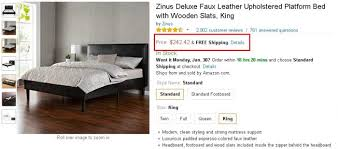 Platform Bed With Mattress Included My Review Zinus Platform Bed U2013 Too Good To Be True Not At All