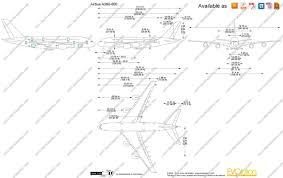 the blueprints com vector drawing airbus a380 800