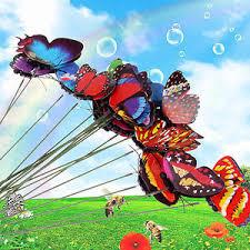 20pcs butterfly ornaments garden decoration colorful flowerpot