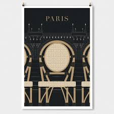 paris decor pont neuf travel poster large wall art black modern