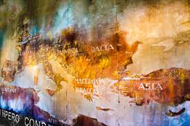 Map Of The Roman Empire Old Map Of Roman Empire Painted On The Wall Of Roman Colosseum