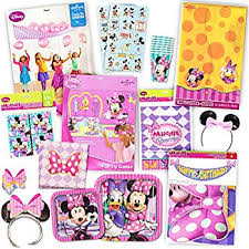 minnie mouse party supplies disney minnie mouse bows party supplies pack including