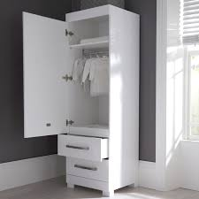 unbelievable single white wardrobe with drawers images concept