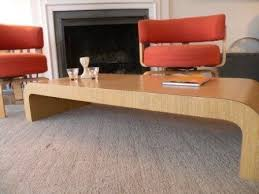 waterfall coffee table wood wood waterfall coffee table 225 apartment therapy