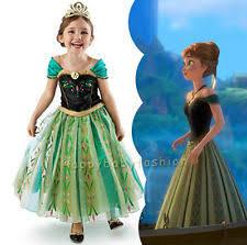 Anna Frozen Costume Girls U0027 Princess Anna Frozen Dresses Ebay