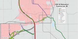 Wisconsin Road Construction Map by New U S 45 Route In Fond Du Lac County Unveiled