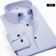autumn new 2017 striped men dress shirt formal fashion long sleeve