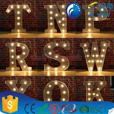 3d metal letter sign vintage light bulb letter sign custom
