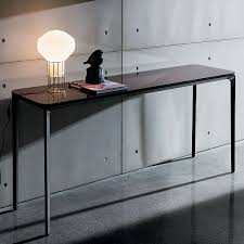 Metal Console Table with Slim Glass Console Table Klarity Glass Furniture