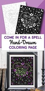 chalkboard style free halloween coloring eighteen25