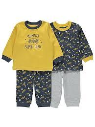 batman 2 pack assorted pyjamas asda and babies