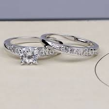 aliexpress buy anniversary 18k white gold filled 4 18k white gold filled engagement 2 rings sets wedding