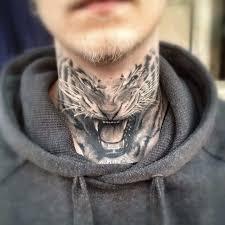 3 amazing tiger neck tattoos