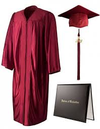 pink cap and gown shiny maroon cap gown tassel diploma cover graduationsource