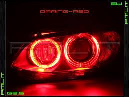08 13 bmw x6 x6m red g2 5 angel eyes 6w led headlights h8 bulbs